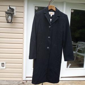 Brand New Talbots Black Wool Coat 6P
